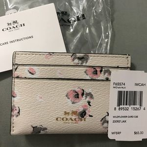 NWT Coach wildflower credit card holder